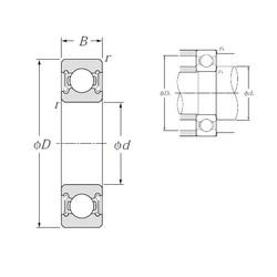 28 mm x 58 mm x 16 mm  NTN 62/28LLB deep groove ball bearings