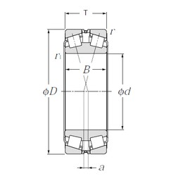440 mm x 720 mm x 226 mm  NTN 323188 tapered roller bearings
