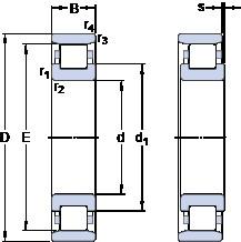 35 mm x 72 mm x 17 mm  SKF N 207 ECM cylindrical roller bearings