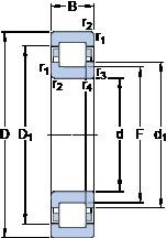 35 mm x 72 mm x 17 mm  SKF NUP 207 ECP thrust ball bearings
