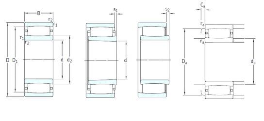 440 mm x 720 mm x 226 mm  SKF C3188KMB cylindrical roller bearings
