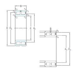 340 mm x 460 mm x 118 mm  SKF NNCF4968CV cylindrical roller bearings