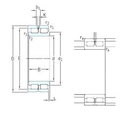 340 mm x 460 mm x 118 mm  SKF NNCL4968CV cylindrical roller bearings