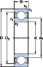 35 mm x 72 mm x 17 mm  SKF 6207-2Z/VA228 deep groove ball bearings