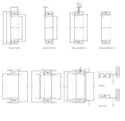 340 mm x 460 mm x 118 mm  SKF NNU 4968 BK/SPW33 cylindrical roller bearings