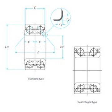 35 mm x 72 mm x 34 mm  NTN DE0763CS46PX1 angular contact ball bearings