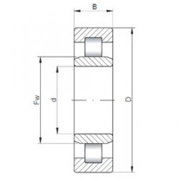 110 mm x 200 mm x 69,8 mm  ISO NU3222 cylindrical roller bearings