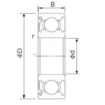 28 mm x 58 mm x 16 mm  NACHI 62/28ZE deep groove ball bearings