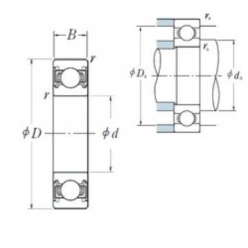28 mm x 58 mm x 16 mm  NSK 62/28VV deep groove ball bearings