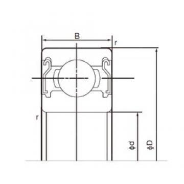28 mm x 58 mm x 16 mm  NACHI 62/28ZZE deep groove ball bearings