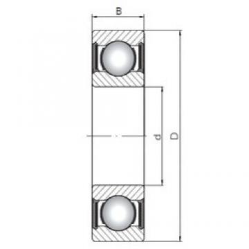 28 mm x 58 mm x 16 mm  ISO 62/28-2RS deep groove ball bearings
