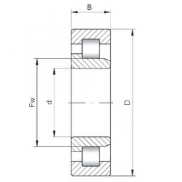 110 mm x 200 mm x 69,8 mm  ISO NJ3222 cylindrical roller bearings
