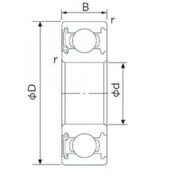 28 mm x 58 mm x 16 mm  NACHI 62/28NSE deep groove ball bearings