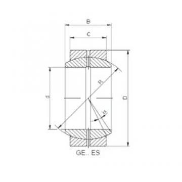 60 mm x 90 mm x 44 mm  Loyal GE 060 ES plain bearings