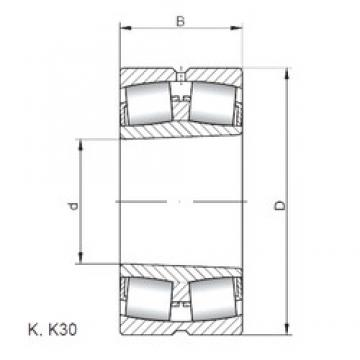 440 mm x 720 mm x 226 mm  Loyal 23188 KCW33 spherical roller bearings