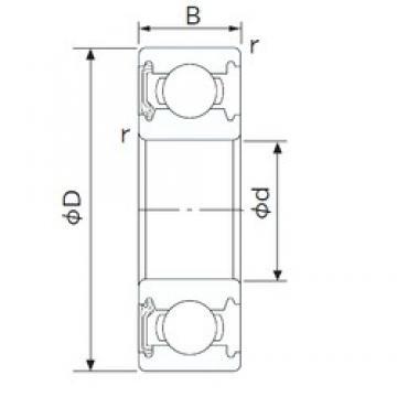 28 mm x 58 mm x 16 mm  NACHI 62/28NKE deep groove ball bearings