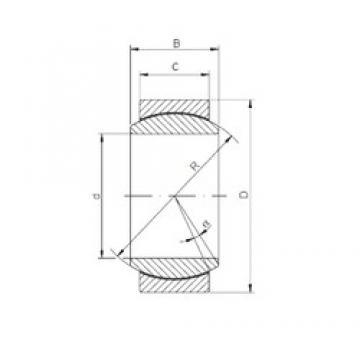 60 mm x 90 mm x 44 mm  Loyal GE 060 ECR-2RS plain bearings