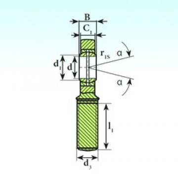 60 mm x 90 mm x 44 mm  ISB SA 60 ES 2RS plain bearings