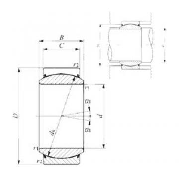 60 mm x 90 mm x 44 mm  IKO GE 60EC-2RS plain bearings