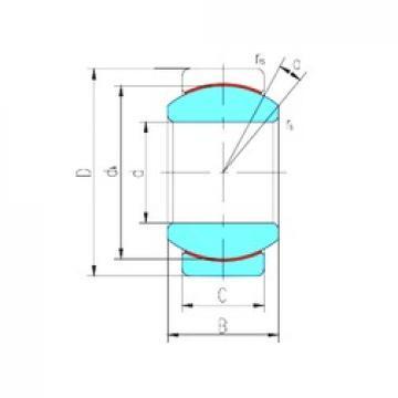 60 mm x 90 mm x 44 mm  LS GE60ET-2RS plain bearings