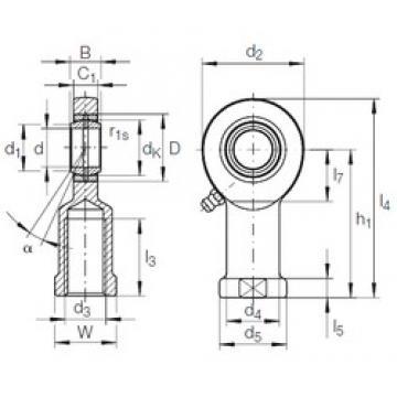 60 mm x 90 mm x 44 mm  INA GIR 60 DO-2RS plain bearings