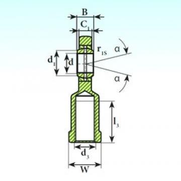 60 mm x 90 mm x 44 mm  ISB SI 60 ES plain bearings