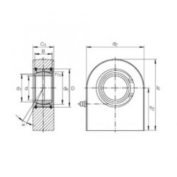 60 mm x 90 mm x 44 mm  INA GF 60 DO plain bearings