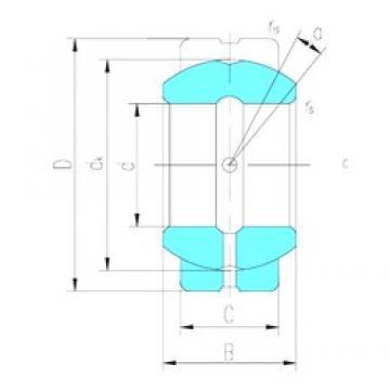 60 mm x 90 mm x 44 mm  LS GE60ES plain bearings