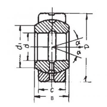60 mm x 90 mm x 44 mm  FBJ GE60ES plain bearings