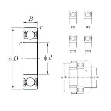 28 mm x 58 mm x 16 mm  KOYO 62/28-2RS deep groove ball bearings