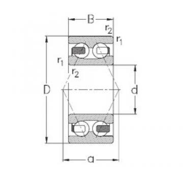 60 mm x 130 mm x 54 mm  NKE 3312-B-TV angular contact ball bearings