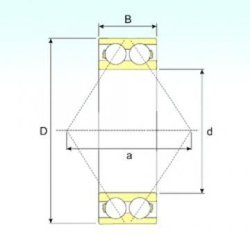 60 mm x 130 mm x 54 mm  ISB 3312 A angular contact ball bearings