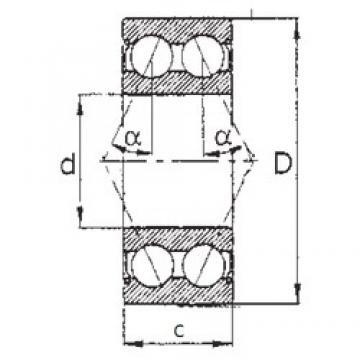 60 mm x 130 mm x 54 mm  FBJ 5312ZZ angular contact ball bearings