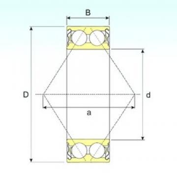 60 mm x 130 mm x 54 mm  ISB 3312-ZZ angular contact ball bearings