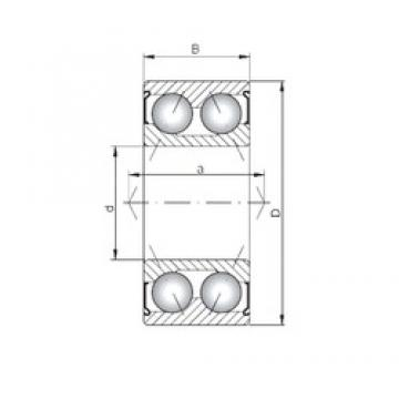 Loyal 3312 ZZ angular contact ball bearings