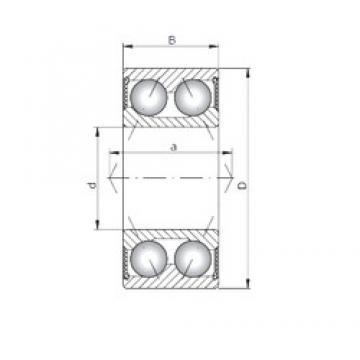 ISO 3312-2RS angular contact ball bearings