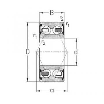 60 mm x 130 mm x 54 mm  NKE 3312-B-2RSR-TV angular contact ball bearings
