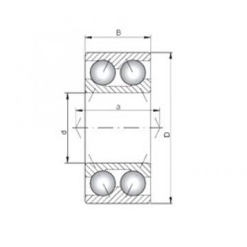 Loyal 3222 angular contact ball bearings