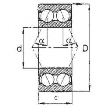 60 mm x 130 mm x 54 mm  FBJ 5312-2RS angular contact ball bearings