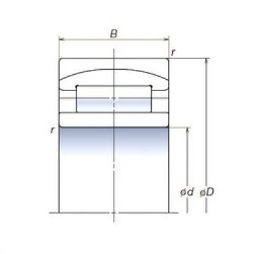 110 mm x 200 mm x 69,8 mm  NSK 110RUB32APV spherical roller bearings