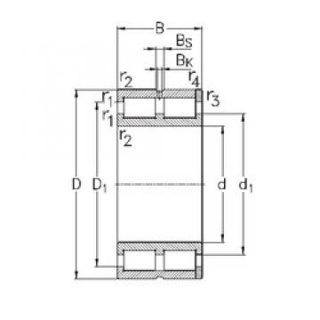 340 mm x 460 mm x 118 mm  NKE NNC4968-V cylindrical roller bearings