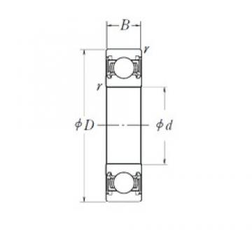 28 mm x 58 mm x 16 mm  NSK 62/28DDU deep groove ball bearings