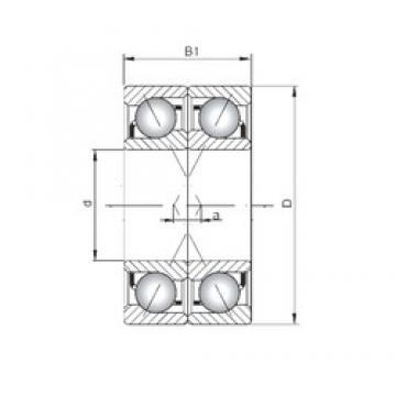 Loyal 7207 A-UX angular contact ball bearings