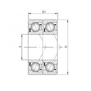 ISO 71921 CDT angular contact ball bearings
