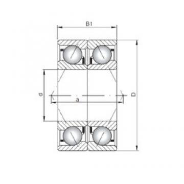 Loyal 71921 C-UO angular contact ball bearings