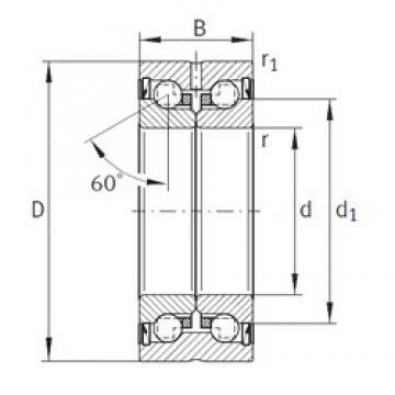 35 mm x 72 mm x 34 mm  INA ZKLN3572-2RS-PE thrust ball bearings