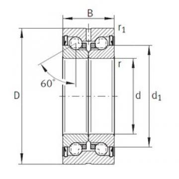35 mm x 72 mm x 34 mm  INA ZKLN3572-2Z thrust ball bearings