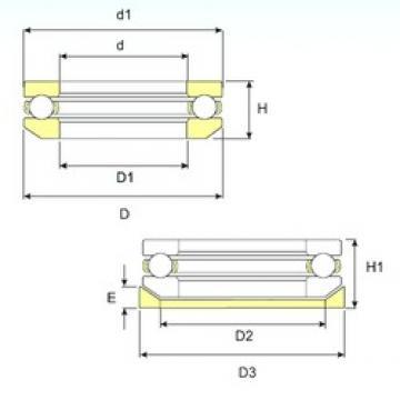ISB 53412 M U thrust ball bearings