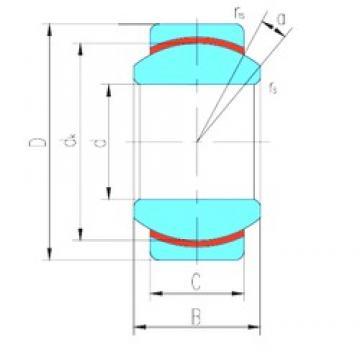60 mm x 90 mm x 44 mm  LS GE60N plain bearings