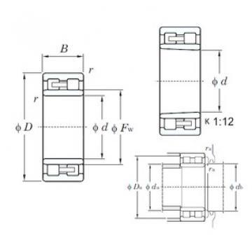 105 mm x 145 mm x 40 mm  KOYO NNU4921 cylindrical roller bearings